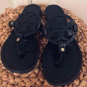 Tory Burch Black Matte Miller Sandals